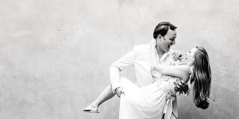 Hochzeitsfotografie in München mit Brautpaar