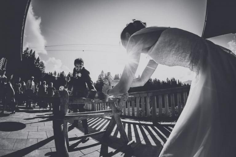 Hochzeitsfotograf Eibsee Bayern bei einer Berghochzeit