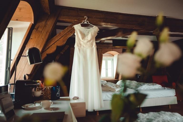 Brautkleid im Schloß Hohenkammer
